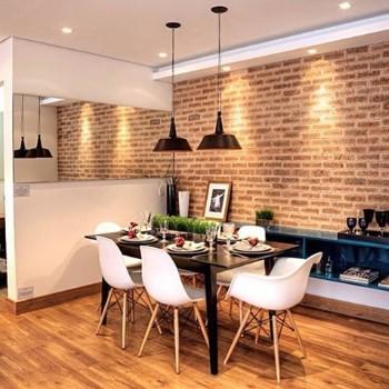 Papel de parede 3D para sala de Jantar