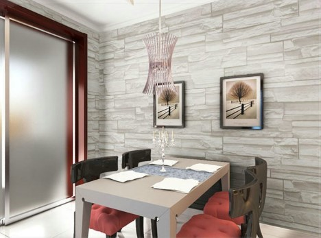 Papel de parede 3D para sala de Jantar - 2