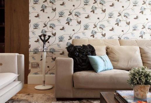 Papel de parede estampa florais